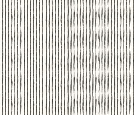 WATERCOLOR STRIPES BLACK AND CREAM SMALL fabric by hlively on Spoonflower - custom fabric