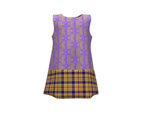 GOLD MANDALA Deep Purple Blue Plaid