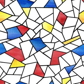 Stained Glass Mondrian