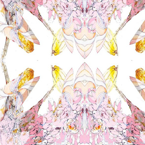 Pretty in Pink Abstract  Fairies