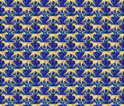 Cosmic trotting Ibizan hound wire coat - night fabric by rusticcorgi on Spoonflower - custom fabric