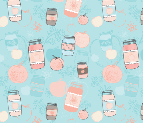 Canned Peaches fabric by katievaz on Spoonflower - custom fabric