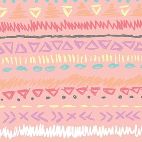 Pink Autumn Geometric Stripes