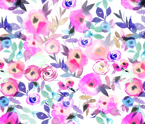 flower's pattern  fabric by holaholga on Spoonflower - custom fabric