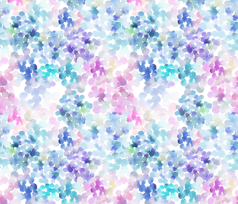 watercolor blobs pattern fabric by holaholga on Spoonflower - custom fabric