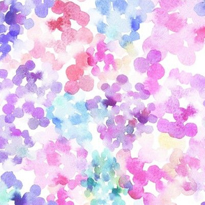 pattern of watercolor blobs