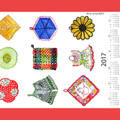 vintage potholder collection 2017
