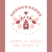 Home is where the heart is 21x18""