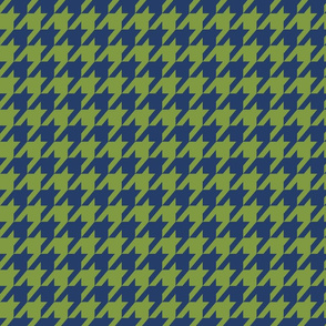 Houndstooth Cobalt Blue and Kelly Green