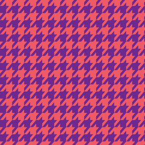Houndstooth Coral and Purple
