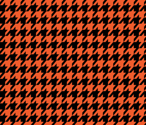 Houndstooth Halloween Orange and Black fabric by mariafaithgarcia on Spoonflower - custom fabric
