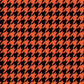 Houndstooth Halloween Orange and Black