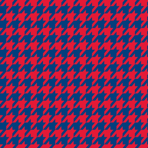 Houndstooth Red Navy