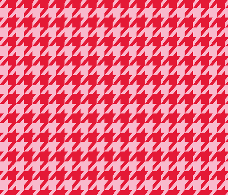 Houndstooth Valentine's Day fabric by mariafaithgarcia on Spoonflower - custom fabric