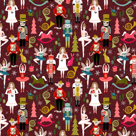 nutcracker ballet // nutcracker holiday xmas chirstmas fabric xmas holiday andrea lauren fabric by andrea_lauren on Spoonflower - custom fabric