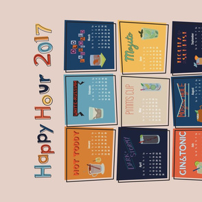 Happy Hour Tea Towel Calendar - 2017