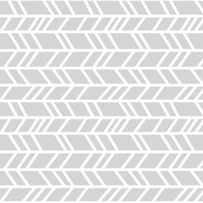 Rotated crazy herringbone - light grey/white