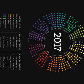 2017 Calendar Color Wheel