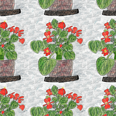 Begonias fabric by anniedeb on Spoonflower - custom fabric