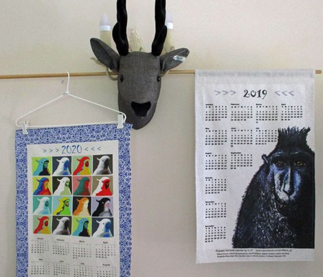 AW Cockies Revisited, tea towel calendar by Su_G_©SuSchaefer