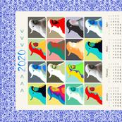 AW Cockies Revisited, tea towel calendar by Su_G_©SuSchaefer