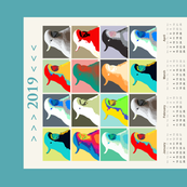 AW Cockies Revisited, tea towel calendar by Su_G