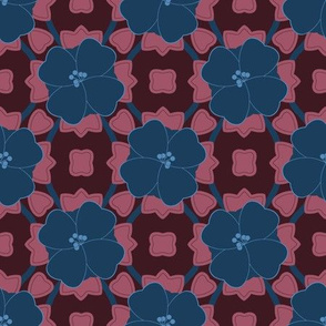 Bold Navy Floral