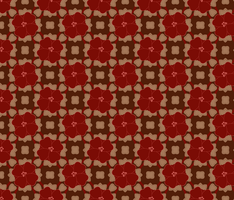 Bold Red Floral fabric by laura_nisbet_art on Spoonflower - custom fabric