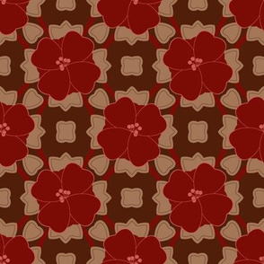 Bold Red Floral