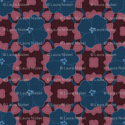 Bold Navy Floral on Texture