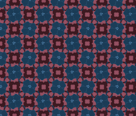Bold Navy Floral on Texture fabric by laura_nisbet_art on Spoonflower - custom fabric