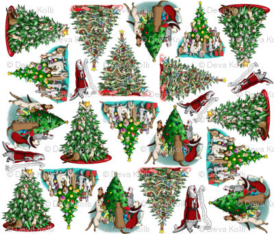 Santa_Tree_Ferrets__white