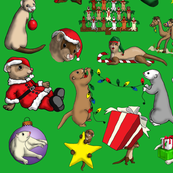 Christmas_Ferret_Green