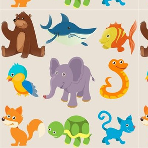 Cuddly Animals - 7.5 in