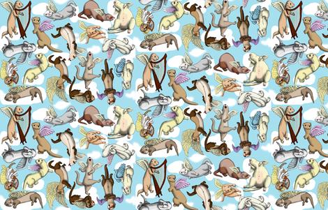 Angels fabric by deva_kolb on Spoonflower - custom fabric