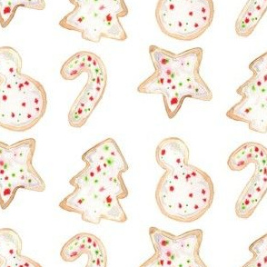 christmas cookies sprinkled