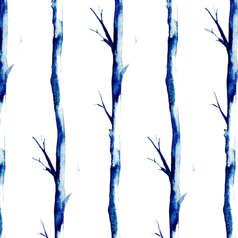 Winter Trees (Small) fabric by siya on Spoonflower - custom fabric