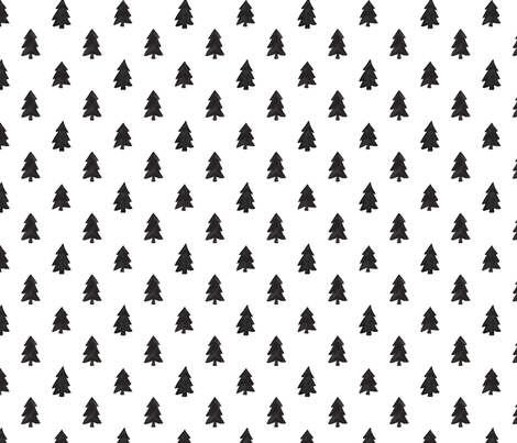 Christmas Pines fabric by sugarfresh on Spoonflower - custom fabric