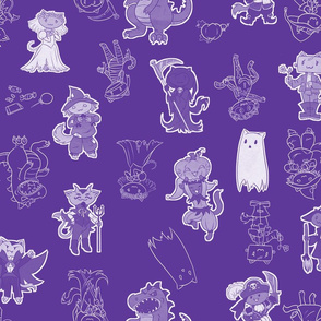 Halloween Kitties (Purple)