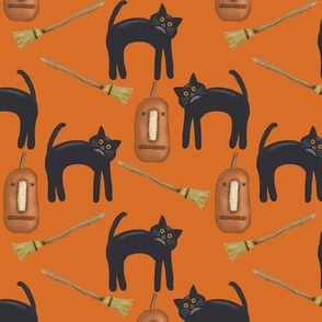 Halloween Orange, Black Cats