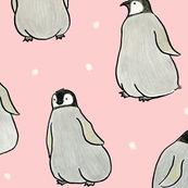 Hand-drawn Penguins