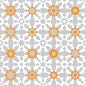 Floral Field - White Orange