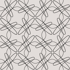 Tangly Lines  and Loops - Beige