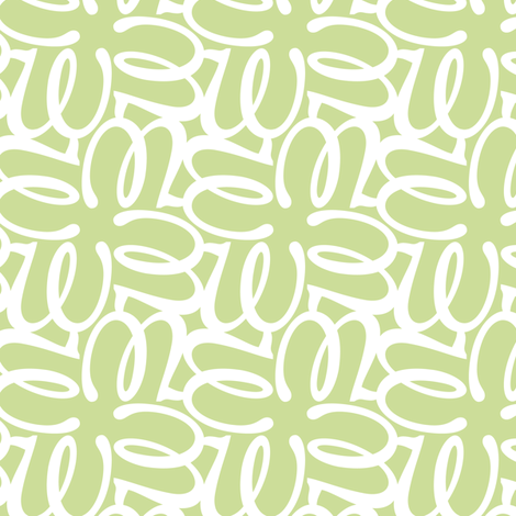Letterform - w - green fabric by zuzana_licko on Spoonflower - custom fabric
