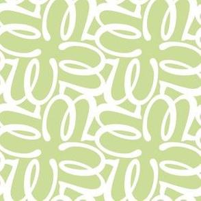 Letterform - w - green