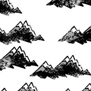 Mountains Grunge Black/White/Gray