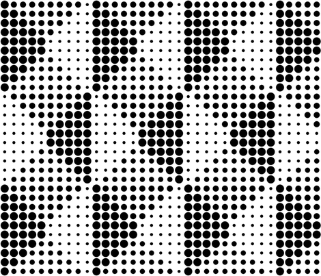 Shadow Dots - B+W fabric by zuzana_licko on Spoonflower - custom fabric
