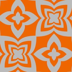 Floral Grid - Orange