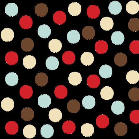 Christmas polka white fabric by bruxamagica on Spoonflower - custom fabric