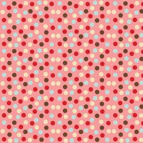 christmas polka pink